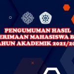 Pengumuman Hasil Seleksi PMB Politeknik Ketenagakerjaan T.A. 2021/2022